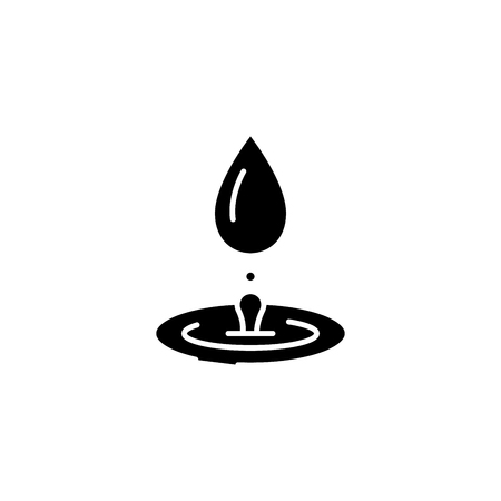 Hydrotherapy black icon concept. Hydrotherapy flat  vector symbol, sign, illustration.