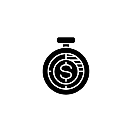 Income measurement black icon concept. Income measurement flat  vector symbol, sign, illustration.