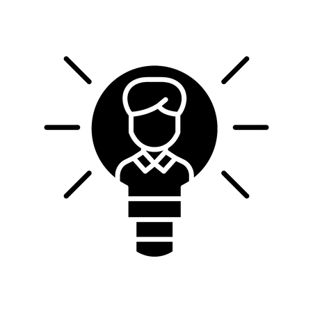 Intellectual property black icon concept. Intellectual property flat  vector symbol, sign, illustration. 写真素材 - 102589681