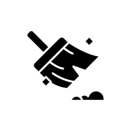 Mantener el concepto de icono negro de limpieza. Mantener la limpieza plana vector símbolo, signo, Ilustración. Ilustración de vector