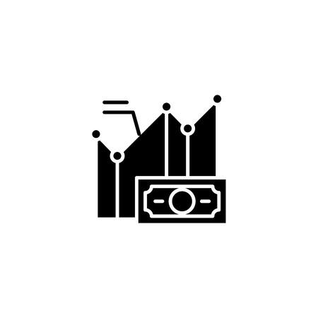 Iq test black icon concept. Iq test flat  vector symbol, sign, illustration. 矢量图像