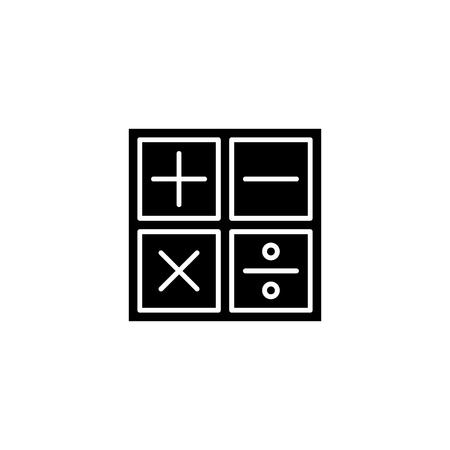 Maths black icon concept. Maths flat  vector symbol, sign, illustration.