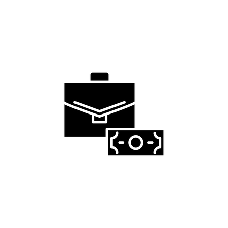 Official bribery black icon concept. Official bribery flat  vector symbol, sign, illustration.