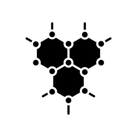 Organic compound black icon concept. Organic compound flat  vector symbol, sign, illustration.