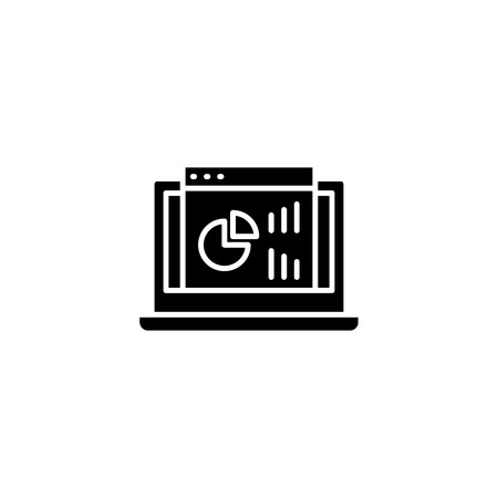 Project dashboard black icon concept. Project dashboard flat  vector symbol, sign, illustration.
