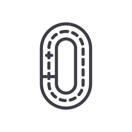 Ring road black icon concept. Ring road flat  vector symbol, sign, illustration.
