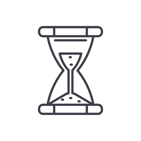 Time limit black icon concept. Time limit flat  vector symbol, sign, illustration. Illustration