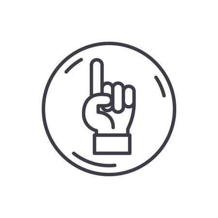 Tutorship black icon concept. Tutorship flat  vector symbol, sign, illustration. Illustration