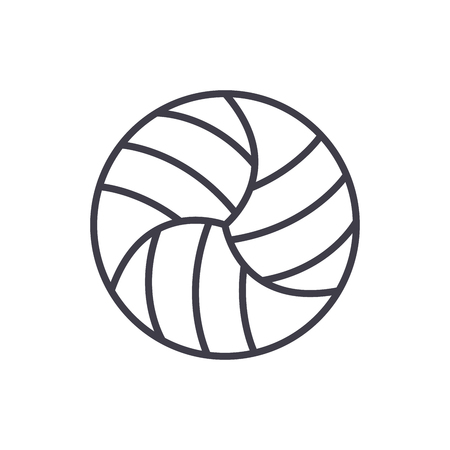 Volleyball competitions black icon concept. Volleyball competitions flat  vector symbol, sign, illustration.