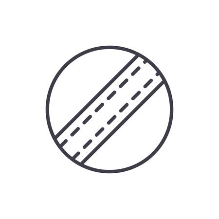 Childrens ball black icon concept. Childrens ball flat  vector symbol, sign, illustration. Foto de archivo - 102648516