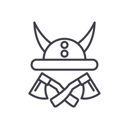Vikings armor black icon concept. Vikings armor flat  vector symbol, sign, illustration.