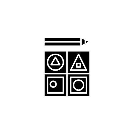 Staff motivation black icon concept. Staff motivation flat  vector symbol, sign, illustration. Illustration