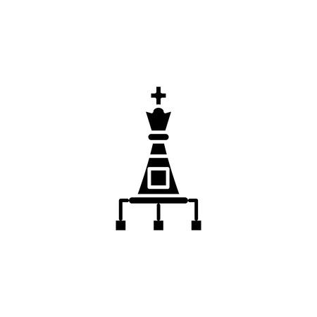 Strategic options black icon concept. Strategic options flat  vector symbol, sign, illustration.