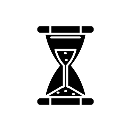 Time limit black icon concept. Time limit flat  vector symbol, sign, illustration. Ilustracja