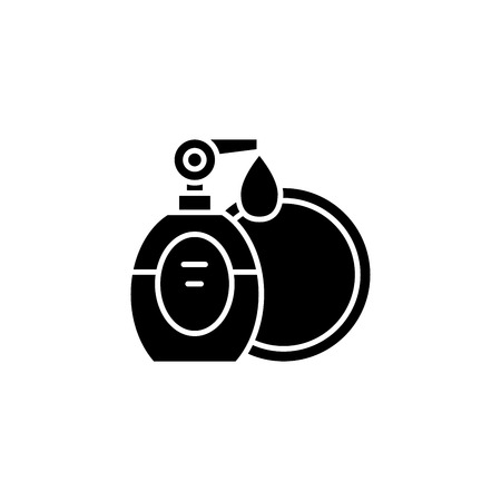 Soft soap black icon concept. Soft soap flat  vector symbol, sign, illustration. 向量圖像