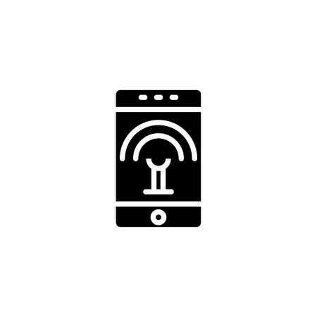 wireless available black icon concept. Ilustracja