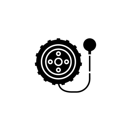 Tyre black icon concept. Tyre flat  vector symbol, sign, illustration.