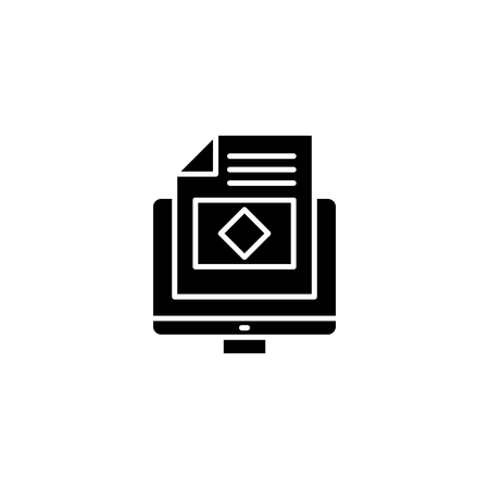 Web page black icon concept. Web page flat  vector symbol, sign, illustration.