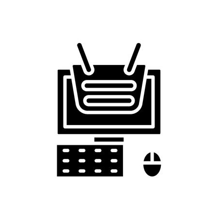 Web project black icon concept. Web project flat  vector symbol, sign, illustration.