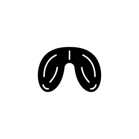 Testicles black icon concept. Testicles flat  vector symbol, sign, illustration. Ilustração