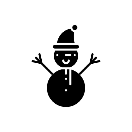 Winter entertainments black icon concept. Winter entertainments flat  vector symbol, sign, illustration.