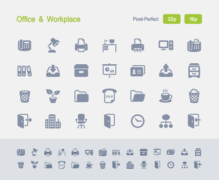 Office & Workplace - Granite Icons Vectores