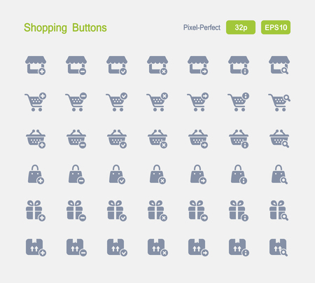 Shopping Buttons - Granite Icons