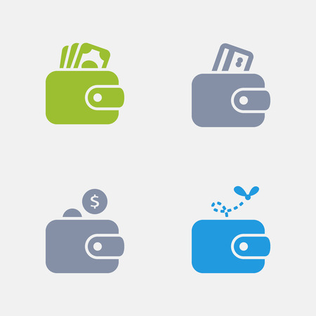 Wallets in granite icons.