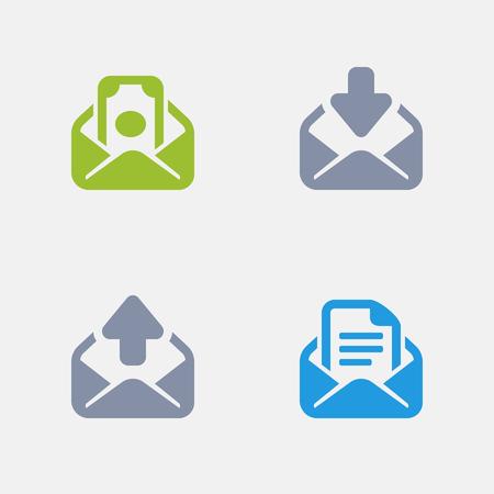 Enveloppen, onderdeel van Granite Icons Stock Illustratie