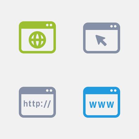 Webpagina's, onderdeel van Granite Icons Stock Illustratie