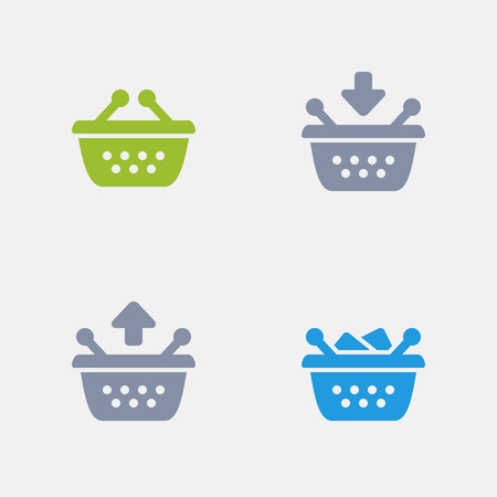 Shopping Baskets, part of Granite Icons 向量圖像