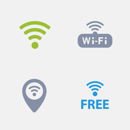 WiFi Symbols, part of Granite Icons 向量圖像