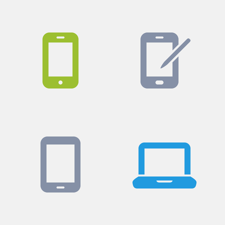 Mobile Devices, part of Granite Icons 向量圖像