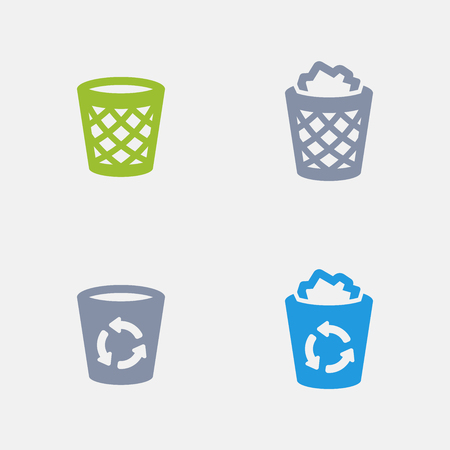 Recycle Bins, part of Granite Icons 向量圖像