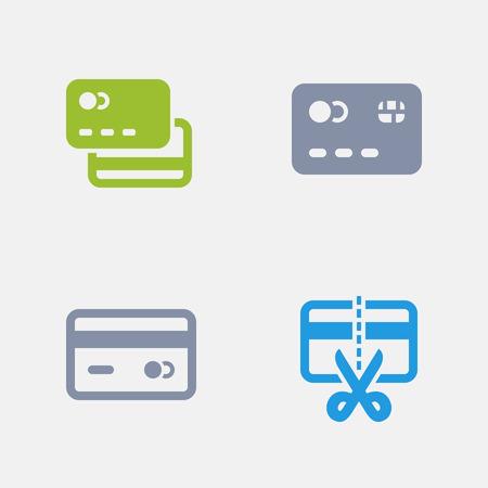 Tarjetas de crédito, parte de los iconos de granito Foto de archivo - 84411747