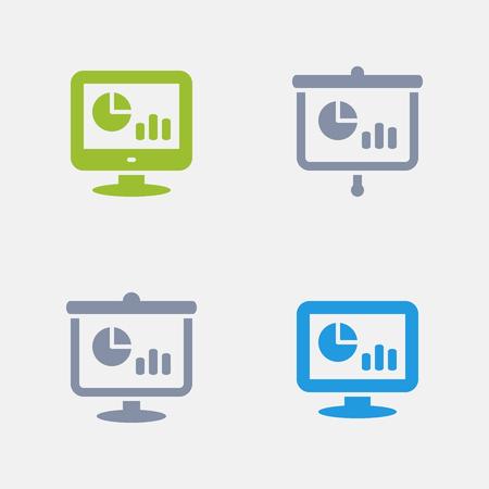 Statistics Screens, part of Granite Icons Illustration