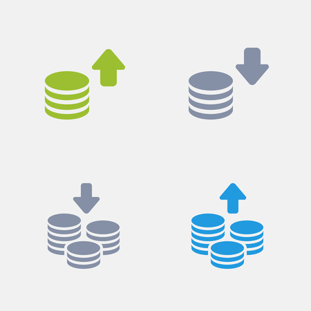 Coin Stacks, part of Granite Icons Illustration