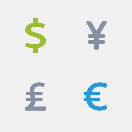 通貨、花崗岩のアイコンの一部  イラスト・ベクター素材