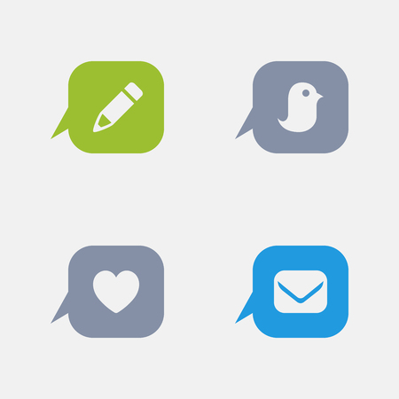 Message Buttons, part of Granite Icons