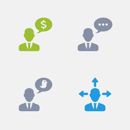 Talking Businessmen, part of Granite Icons
