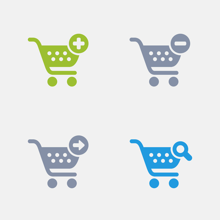Shopping Cart Buttons, part of Granite Icons 向量圖像