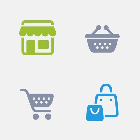 Supermarket, part of Granite Icons Illustration