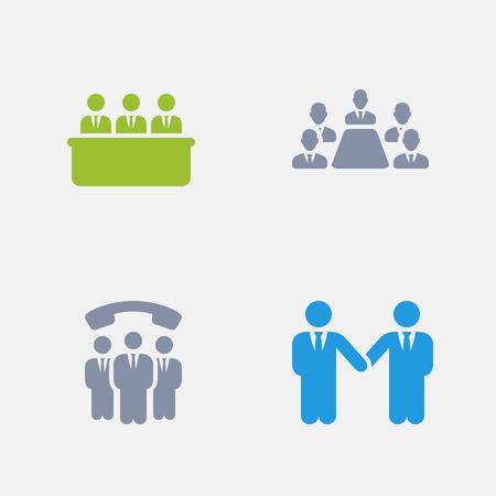 Zakelijke relaties, onderdeel van Granite Icons Stock Illustratie