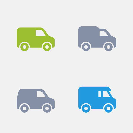 Delivery Vans, part of Granite Icons Stock Vector - 84411789