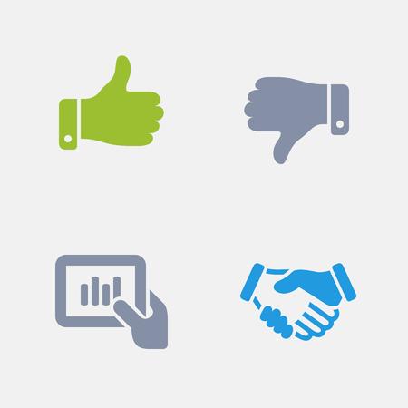 Business Hands, onderdeel van Granite Icons. Stock Illustratie