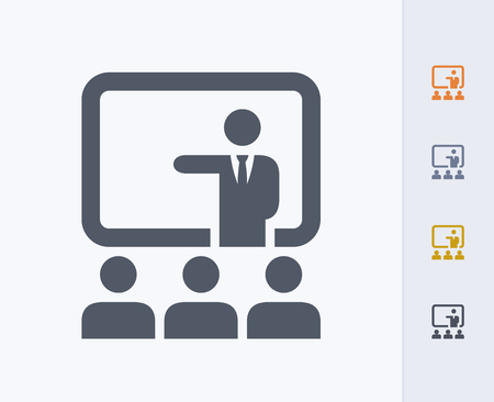 Presentation concept icon Illustration