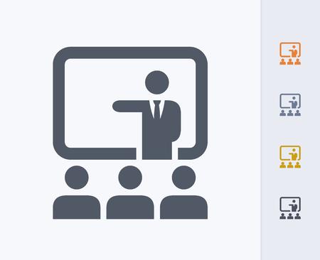 Presentation concept icon Illusztráció