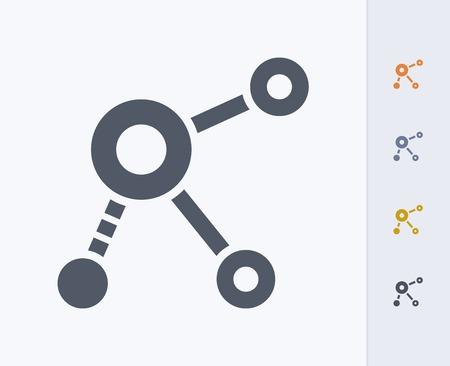Network concept icon