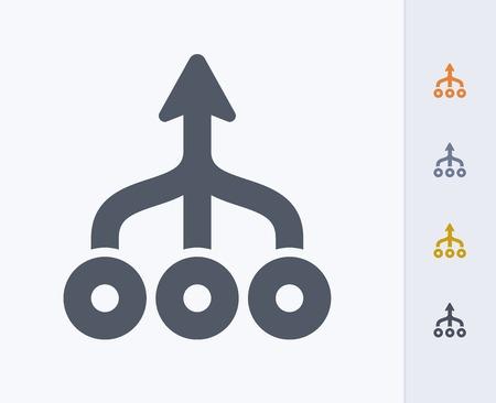 Icona del concetto di lavoro di squadra Archivio Fotografico - 86474921