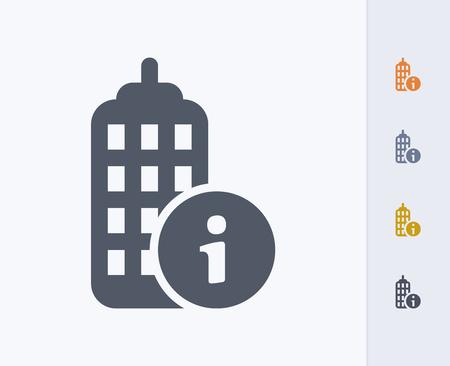Gebäude Informationen Symbol Standard-Bild - 86474927